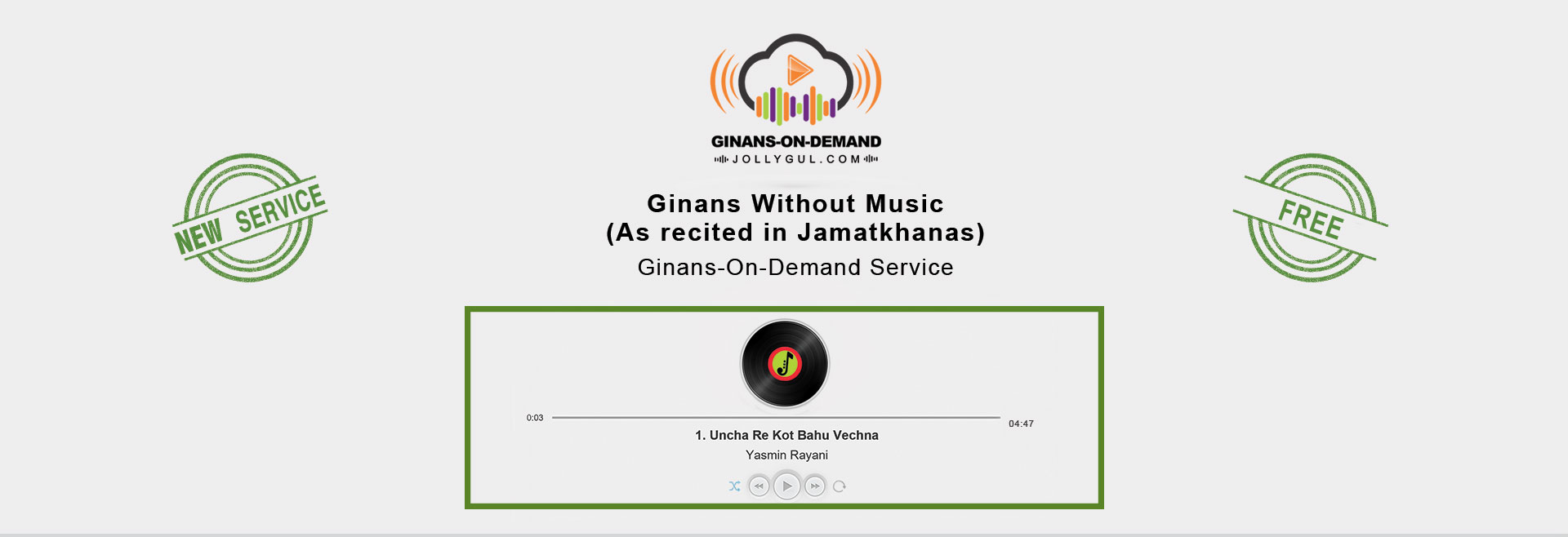 Ginans On Demand Launch